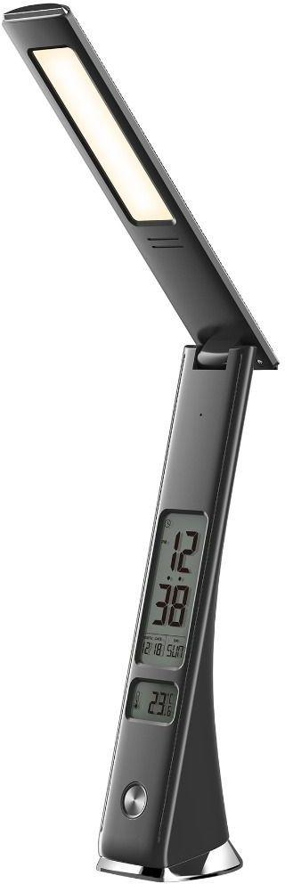 Lampa biurkowa LED U11C Zuma Line nowoczesna czarna zegar wyświetlacz
