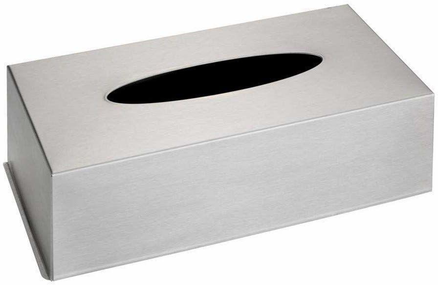 WENKO Caja para panuelos de Acero nieutlenialna, metal, srebrny