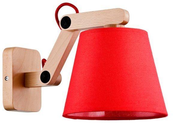 Nowoczesna lampa ścienna JOGA I drewnoczerwo śr. 32cm