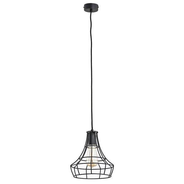 Druciana lampa kratka SOLIX czarna śr. 17,5cm