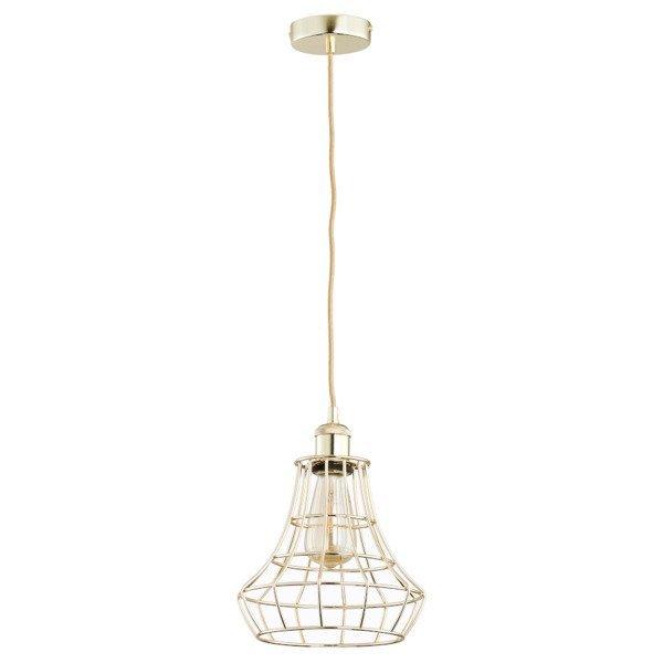 Druciana lampa kratka SOLIX złota śr. 22,5cm