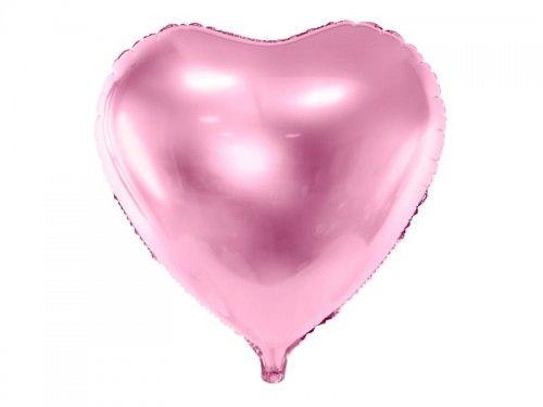 Balon foliowy Serce, jasno różowy, duży