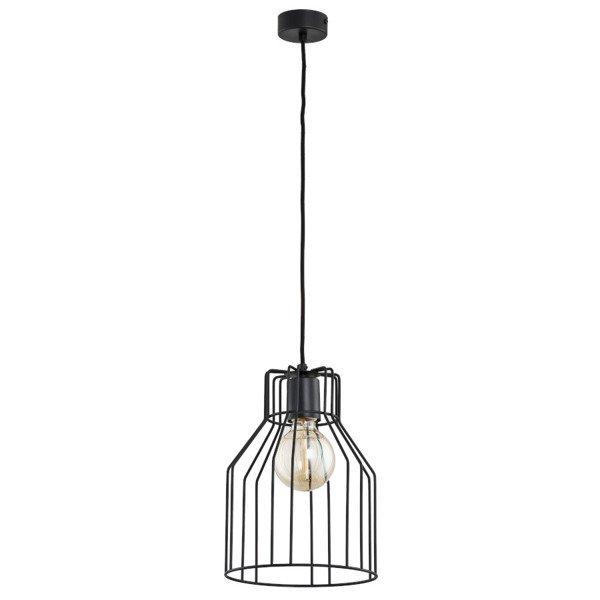 Druciana lampa kratka FRAGITA czarna śr. 23cm