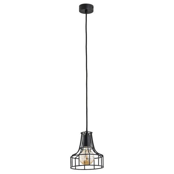 Druciana lampa kratka NAPET mini black czarna śr. 17,5cm