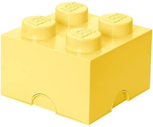 LEGO kamień do przechowywania, 4 wypustki, pudełko do przechowywania, 5,7 l, jasnożółty