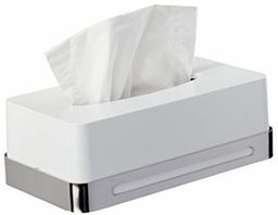 WENKO Pudełko na chusteczki kosmetyczne Premium Plus  dozownik na chusteczki kosmetyczne, stal nierdzewna, 26,5 x 14,5 x 17 cm, błyszczące