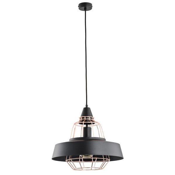 Nowoczesna lampa TAMARIS czarna/miedź śr. 40cm