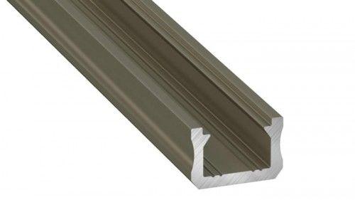 PROFIL typ X 1m INOX anodowany nawierzchniowy wąski SLIM do TAŚMY LED