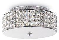Lampa sufitowa Roma 093093 Ideal Lux transparentna oprawa w stylu nowoczesnym