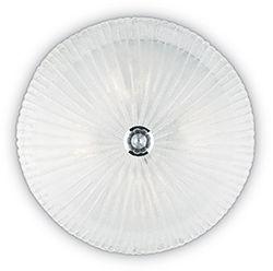 Plafon Shell PL3 008608 Ideal Lux transparentna oprawa ze szkła