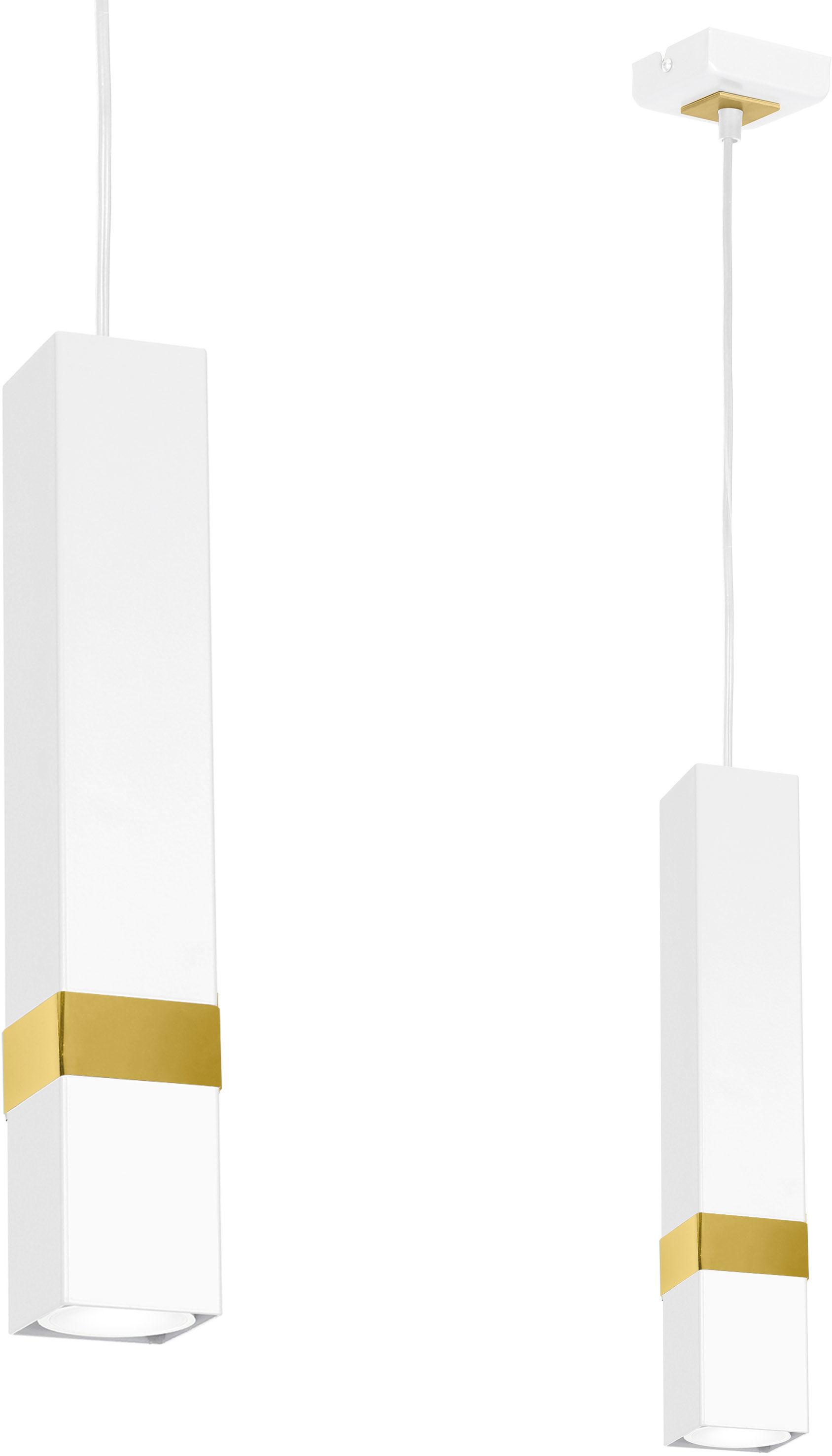 Lampa wisząca Vidar biało złota 1 punktowa zwis MLP6275 - Milagro // Rabaty w koszyku i darmowa dostawa od 299zł !