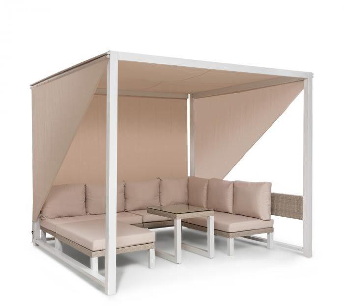 Blumfeldt Havanna, pawilon/zestaw wypoczynkowy, 270 x 230 x 270 cm, cztery 2-osobowe kanapy, biały