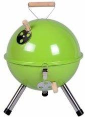 Grill ogrodowy węglowy okrągły, mini grill bbq kolor zielony (HUR-YG00263_G)