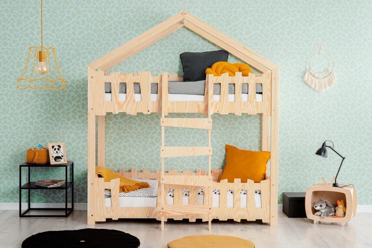 Łóżko piętrowe dla dzieci domek Antonio
