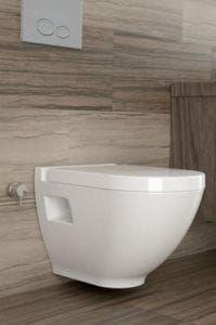 Miska WC 52x35 cm z bidetem rimless z deską soft close .easy take