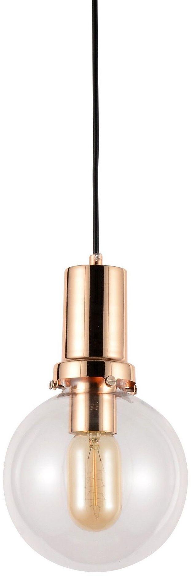 NOWOCZESNA LAMPA WISZĄCA PRZEZROCZYSTO-ZŁOTA DORITO D15