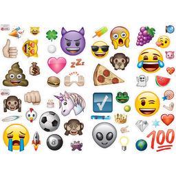 Emoji - naklejki na ścianę