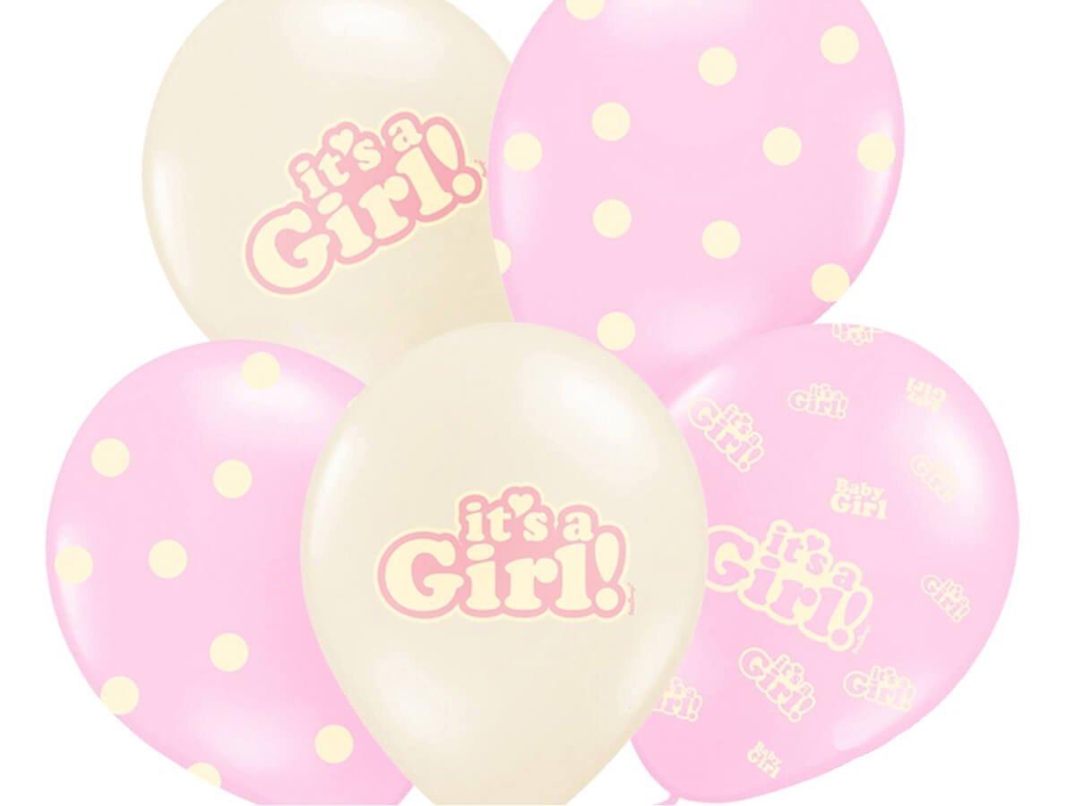 Balony pastelowe It''s a Girl - 30 cm - 6 szt.