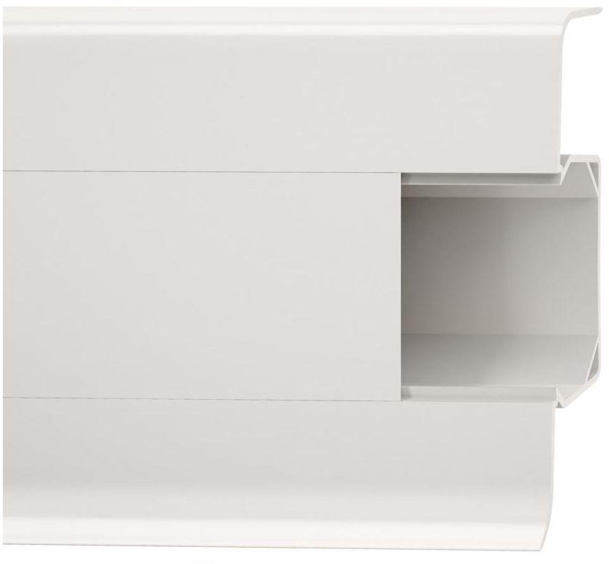 Listwa przypodłogowa pcv Biała 601 Esquero 66 mm Vox