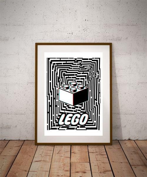 Maze gaze lego - plakat 3d wymiar do wyboru: 21x29,7 cm