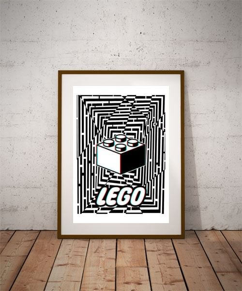 Maze gaze lego - plakat 3d wymiar do wyboru: 30x40 cm