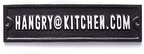 Boxer Gifts Hangry@Kitchen.com żelazny znak Zabawna kuchnia artystyczna tablica ścienna Prezent retro 22,9 cm x 6,1 cm, czarny, jeden