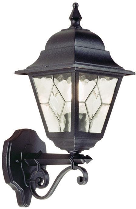 Kinkiet zewnętrzny Norfolk NR1 Elstead Lighting klasyczna oprawa w kolorze czarnym