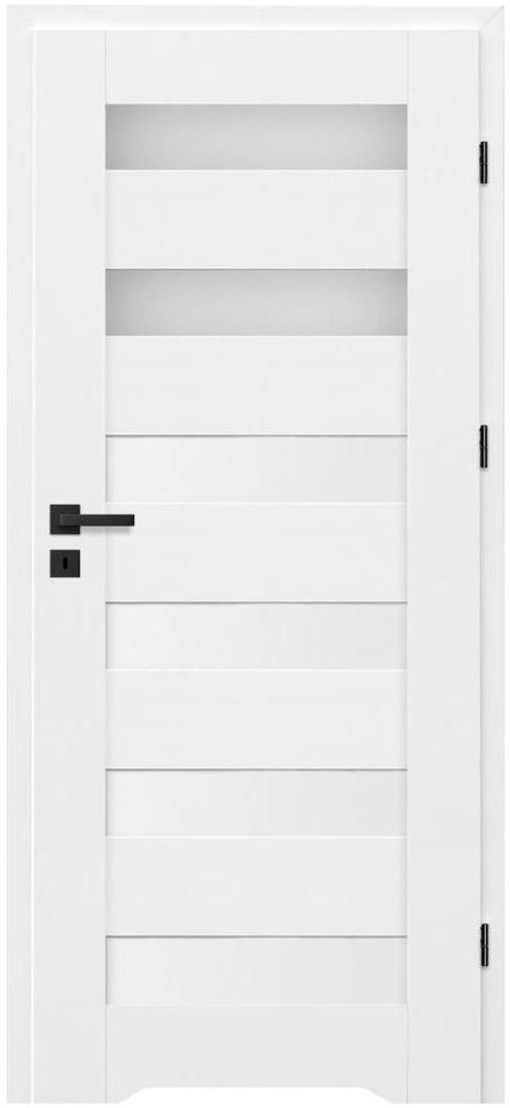 Skrzydło drzwiowe z podcięciem wentylacyjnym Talana Białe 80 Prawe Nawadoor