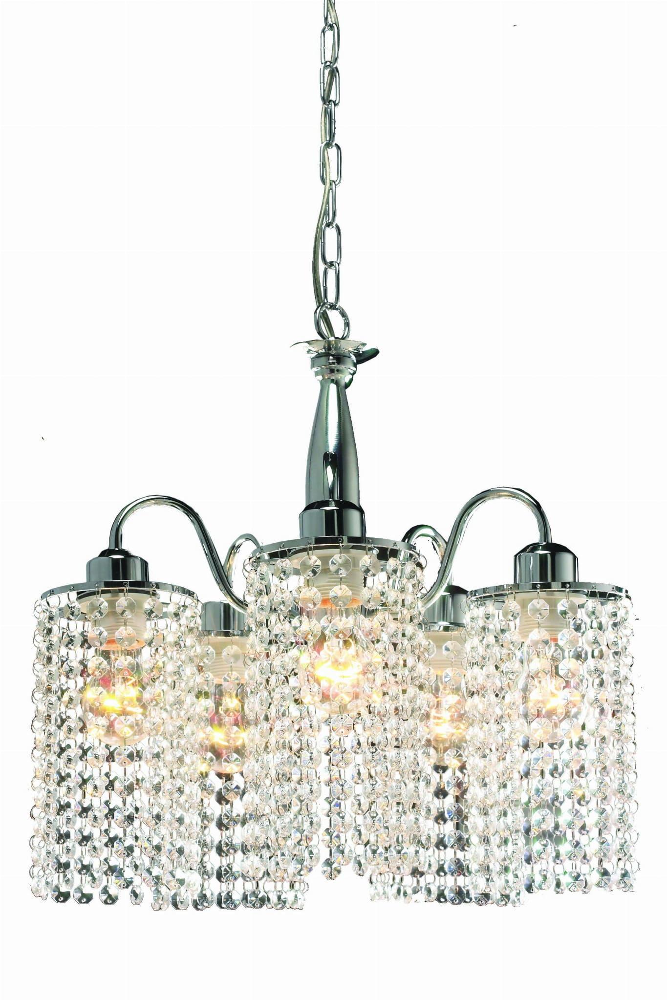 Light Prestige Bright Star 5 LP-812/5P lampa wisząca chrom szklane klosze z kuleczek 5x60W E27 41,5cm
