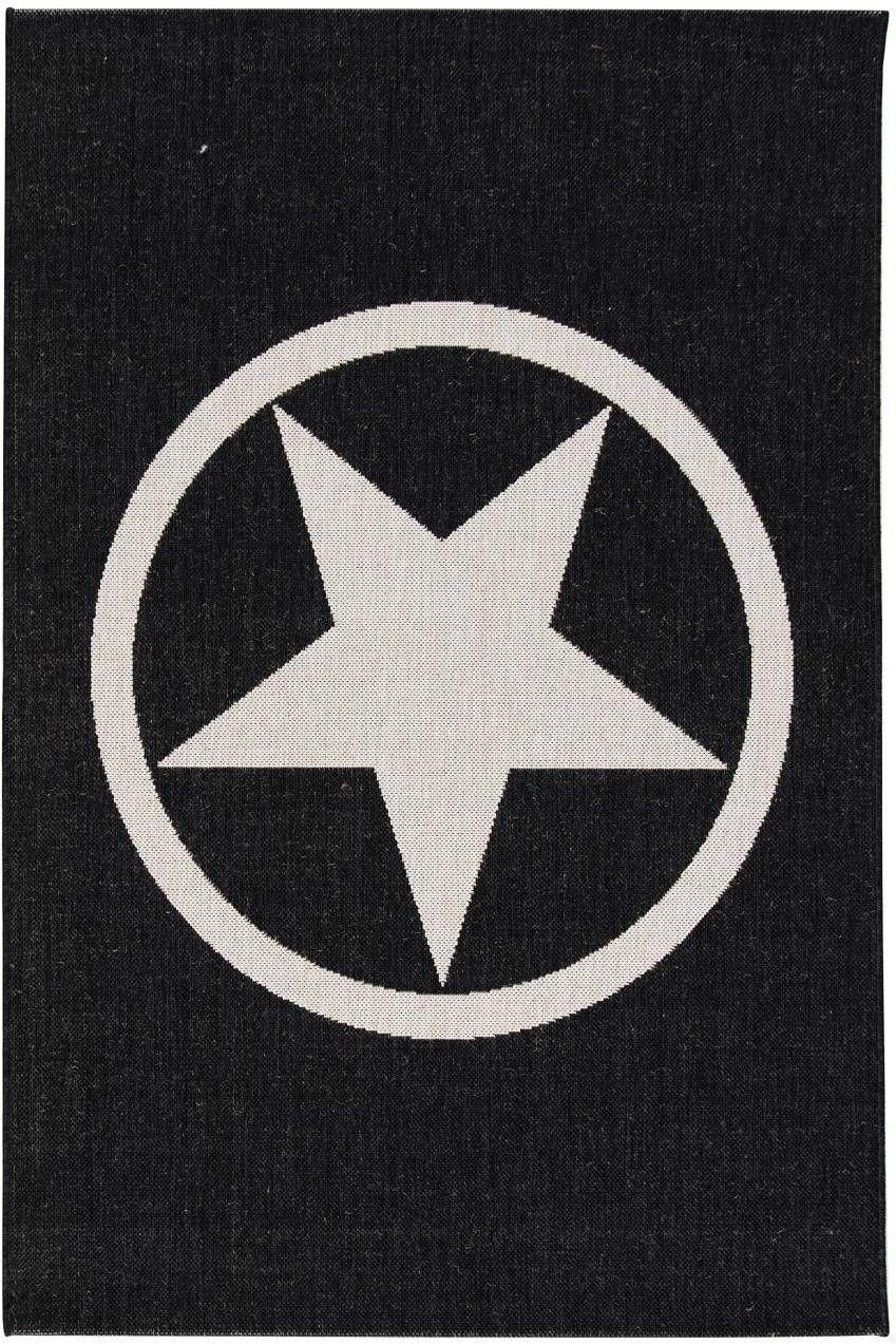Dywan Modern Star black/wool 67x130cm, 67  130 cm