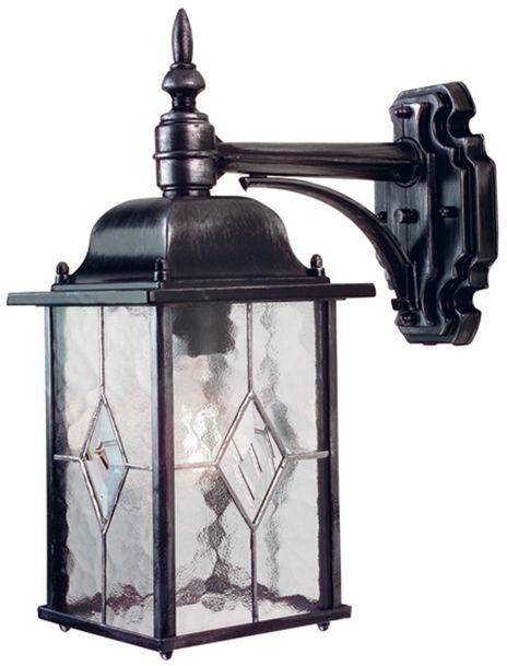 Kinkiet zewnętrzny Wexford WX2 Elstead Lighting czarno-srebrna oprawa w klasycznym stylu