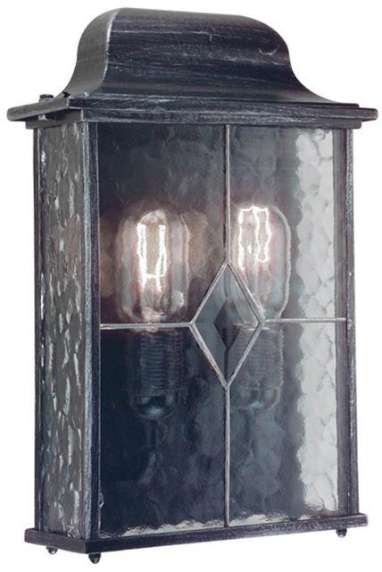 Kinkiet zewnętrzny Wexford WX7 Elstead Lighting czarno-srebrna oprawa w klasycznym stylu