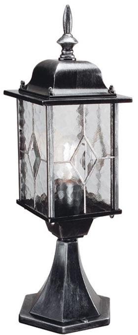 Lampa zewnętrzna stojąca Wexford WX3 Elstead Lighting czarno-srebrna oprawa w klasycznym stylu