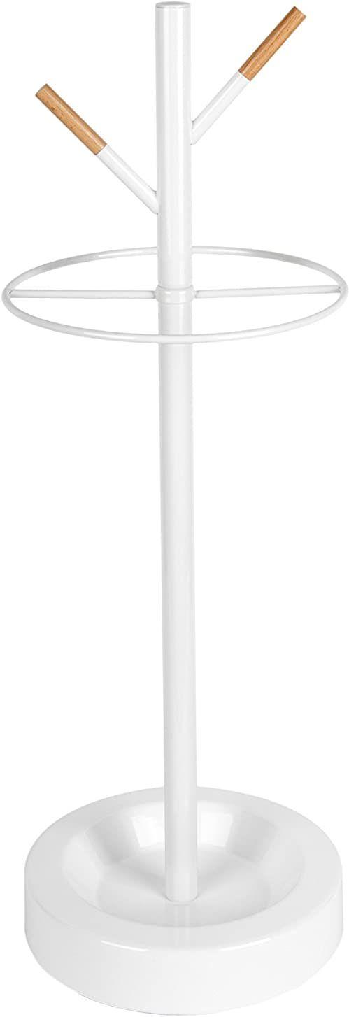 Leitmotiv Parasol, stojak, akcesoria domowe, stal, biały, jeden rozmiar