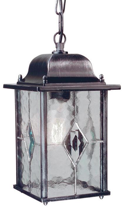 Lampa wisząca zewnętrzna Wexford WX9 Elstead Lighting czarno-srebrna oprawa w klasycznym stylu