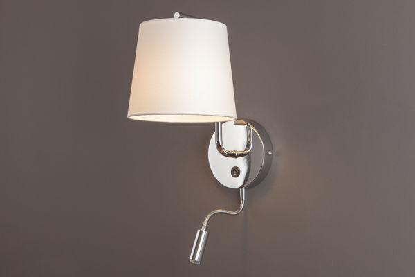 Kinkiet CHICAGO II CR + LED W0198 Maxlight abażur nowoczesny hotelowy energooszczędny