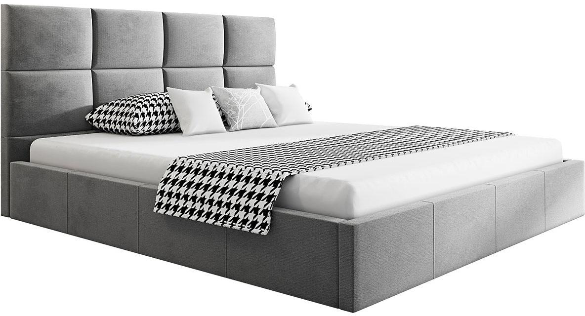 Łóżko małżeńskie z pojemnikiem 180x200 Nikos 3X - 48 kolorów