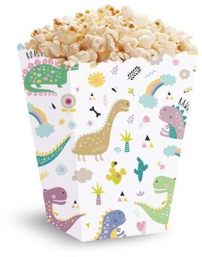 Pudełka na popcorn słodycze dinozaury 5 sztuk 511840