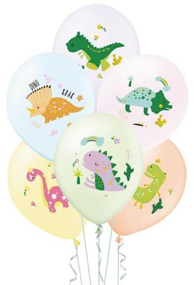 Balony urodzinowe Dinozaury 27cm 6 sztuk 400854