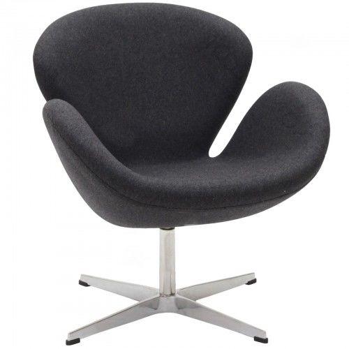 Fotel ŁABĘDŹ wełna - inspirowany proj. Swan Chair