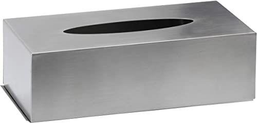 AMARE pudełko na chusteczki kosmetyczne, stal nierdzewna, srebrne, 24