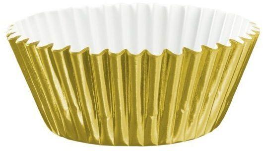 Papilotki do babeczek złote metalizowane 100 sztuk 511428