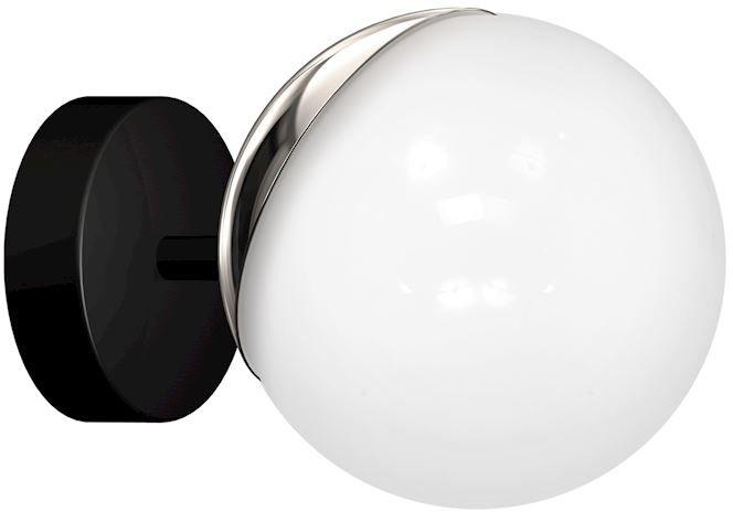 Milagro SFERA MLP8870 kinkiet lampa ścienna chrom klosz szklana kula 1xE14 15cm
