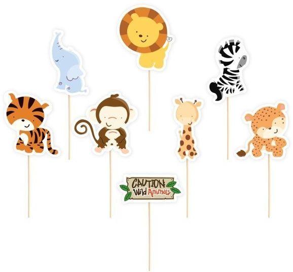 Dekoracje do muffinek Safari Wild Animals 6 sztuk 512114