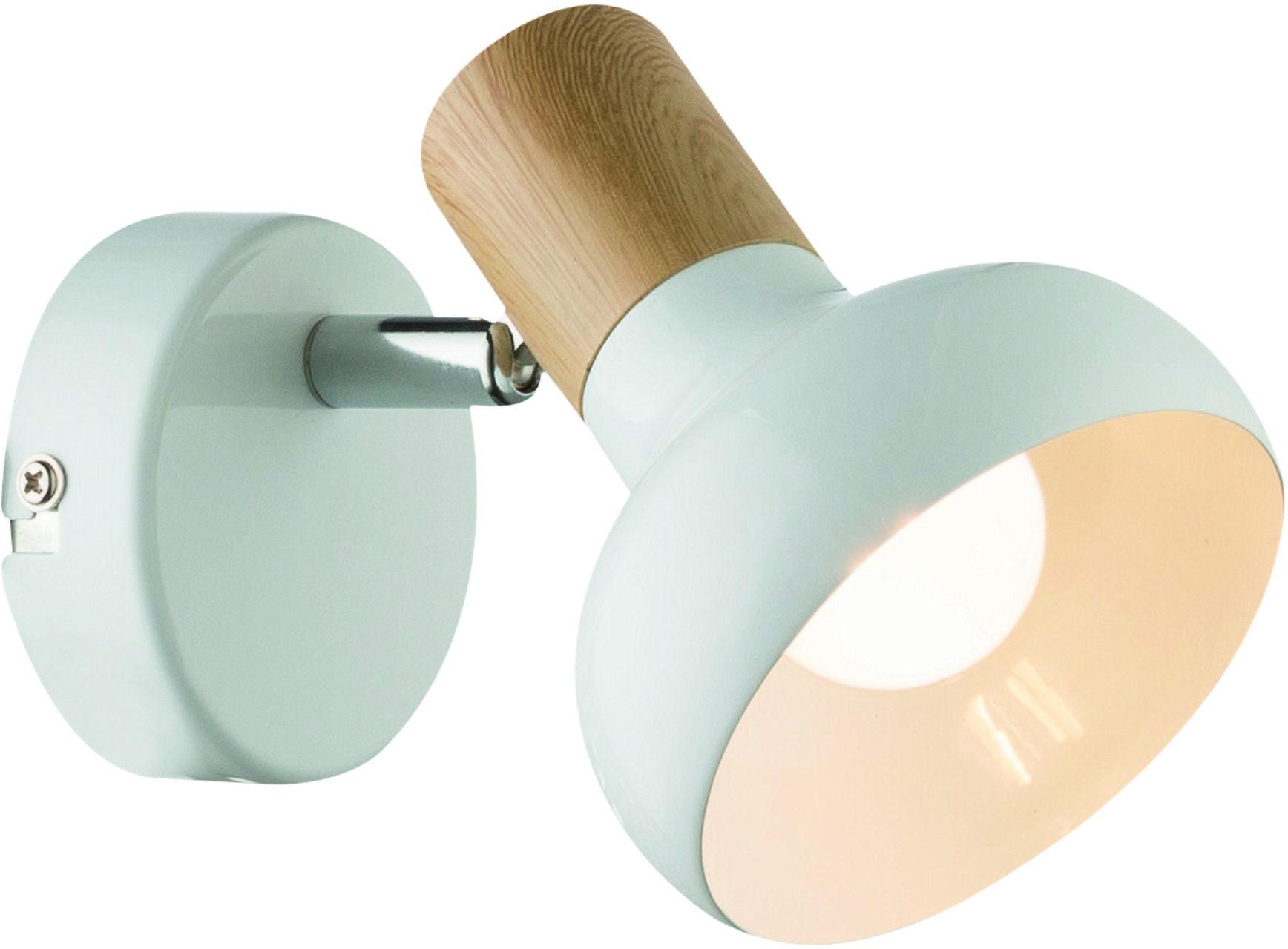 Candellux PUERTO 91-62796 kinkiet lampa ścienna biała metalowy klosz 1X40W E14 10cm