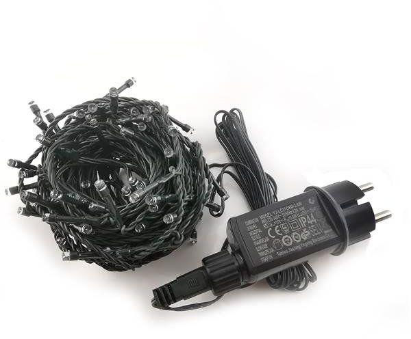 Lampki choinkowe LED z programatorem K100 IP44 BIAŁE