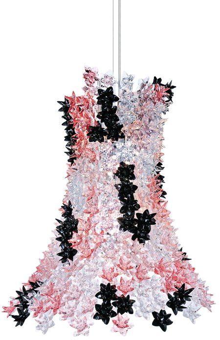 Bloom H70 czarny, różowy - Kartell - lampa wisząca