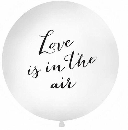 Balon Kula z czarnym napisem Love i sin the air, 1 m