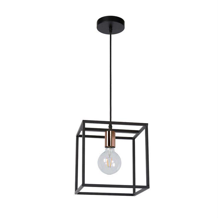 Arthur H25 czarny - Lucide - lampa wisząca