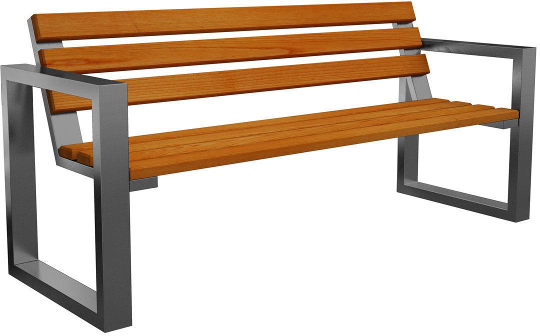 Ławka ogrodowa Norin Silver 150cm - 8 kolorów